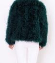 Fluffy Fur Fever Forest Green Back