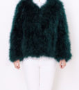 Fluffy Fur Fever Forest Green Front