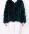 Fluffy Fur Fever Forest Green Front