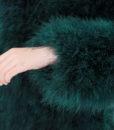 Fluffy Fur Fever Forest Green Detail