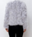 Fluffy Fur Fever Jacket Ash Grey Back