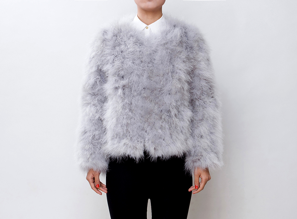 Fluffy Fur Fever Jacket Ash Grey - Pellobello