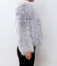 Fluffy Fur Fever Jacket Ash Grey Side