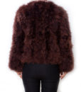Fluffy Fur Fever Jacket Coffee Brown Back