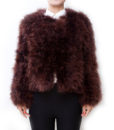 Fluffy Fur Fever Jacket Coffee Brown Front