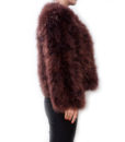 Fluffy Fur Fever Jacket Coffee Brown Side