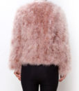 Fluffy Fur Fever Jacket Coral Pink Back