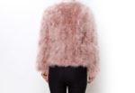 Fluffy Fur Fever Jacket Coral Pink Back