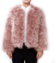 Fluffy Fur Fever Jacket Coral Pink Front