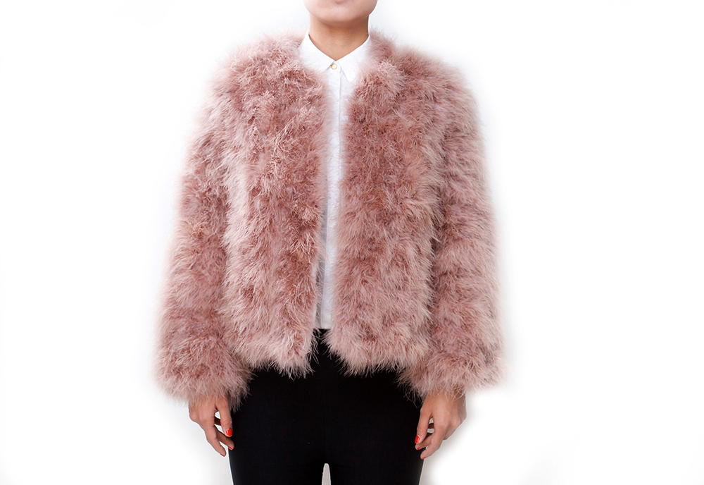 Fluffy Fur Fever Jacket Coral Pink - Pellobello