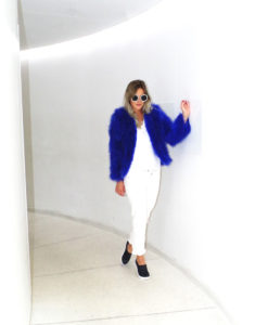 Fluffy Fur Fever Jacket Electric Blue Cover