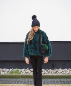 Fluffy Fur Fever Jacket Forest Green Cover 2
