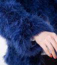 Fluffy Fur Fever Jacket Lapis Arm Closeup