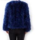 Fluffy Fur Fever Jacket Lapis Blue Back