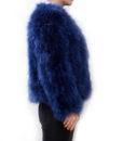 Fluffy Fur Fever Jacket Lapis Blue Side