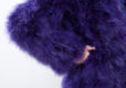 Fluffy Fur Fever Jacket Lavender Purple Arm Closeup