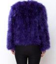 Fluffy Fur Fever Jacket Lavender Purple Back