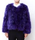 Fluffy Fur Fever Jacket Lavender Purple Front