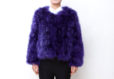 Fluffy Fur Fever Jacket Lavender Purple Front