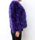 Fluffy Fur Fever Jacket Lavender Purple Side