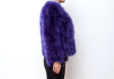 Fluffy Fur Fever Jacket Lavender Purple Side