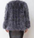 Fluffy Fur Fever Jacket Long Version Charcoal Grey Back