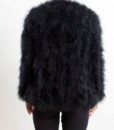 Fluffy Fur Fever Jacket Long Version Classic Black Back