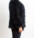 Fluffy Fur Fever Jacket Long Version Classic Black Side