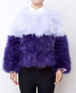 Fluffy Fur Fever Jacket Purple Sensation Front