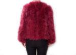 Fluffy Fur Fever Jacket Red Wine Back
