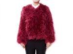Fluffy Fur Fever Jacket Red Wine Front