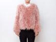 Fluffy Fur Fever Jacket Salmon Pink Front