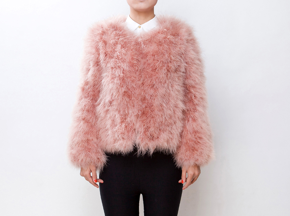 Fluffy Fur Fever Jacket Salmon Pink - Pellobello