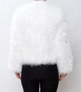 Fluffy Fur Fever Jacket Snow White Back