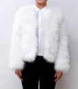 Fluffy Fur Fever Jacket Snow White Front