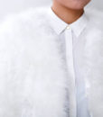 Fluffy Fur Fever Jacket Snow White Front Closeup
