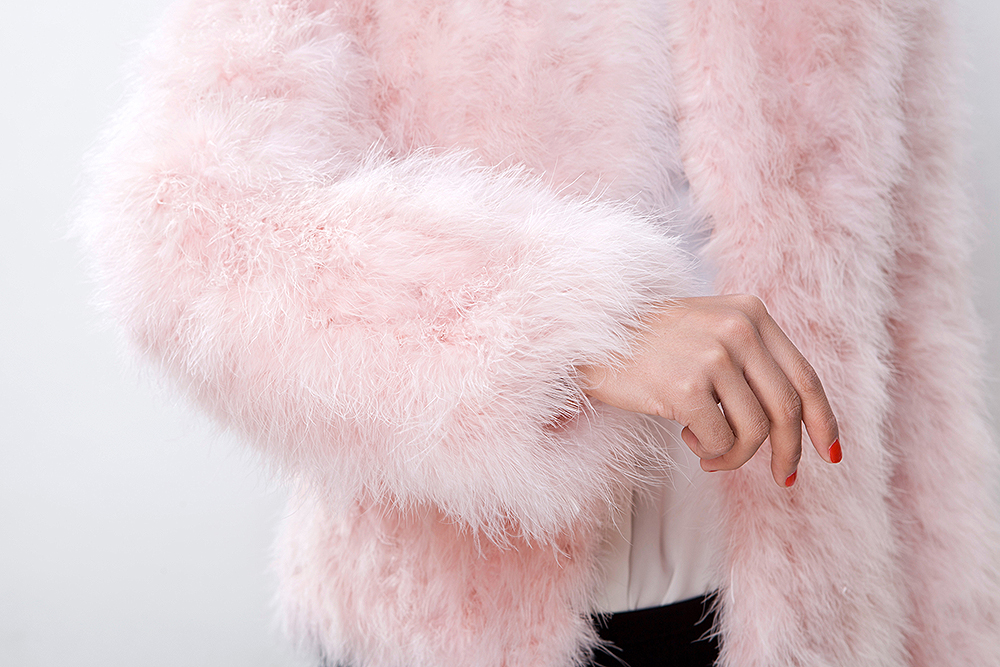 Fluffy Pink Coat - Coat Nj