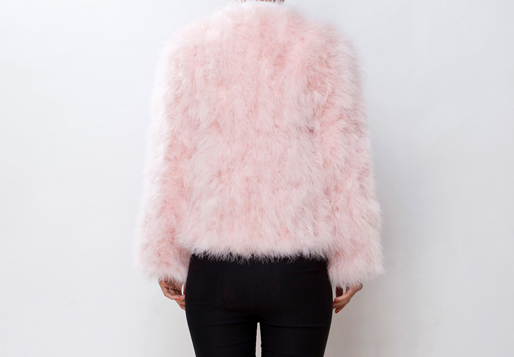 Fluffy Fur Fever Jacket Soft Pink - Pellobello