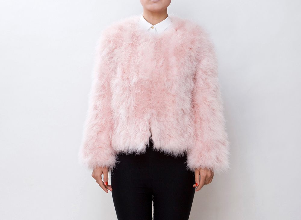 Fluffy Pink Jacket - Coat Nj
