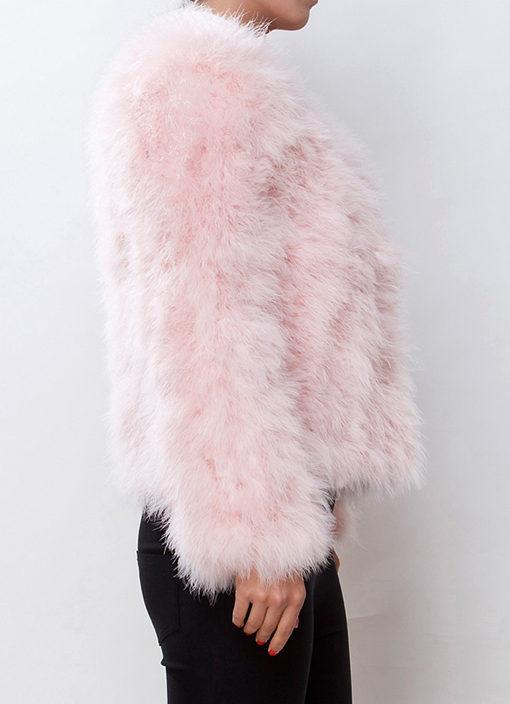 Fluffy Fur Fever Jacket Soft Pink - Pellobello