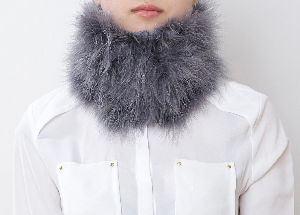 Fluffy Fur Fever Warmer Charcoal Grey