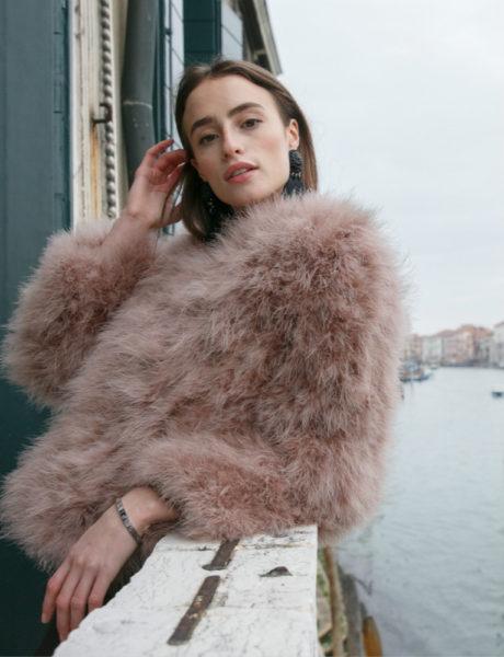 coral pink jacket