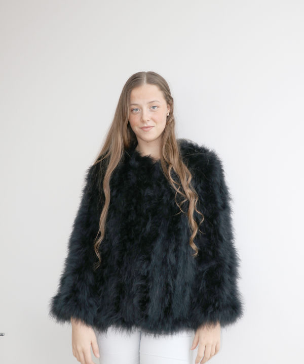 94a8109eb41 Fluffy Fur Fever Jacket Classic Black - Pellobello
