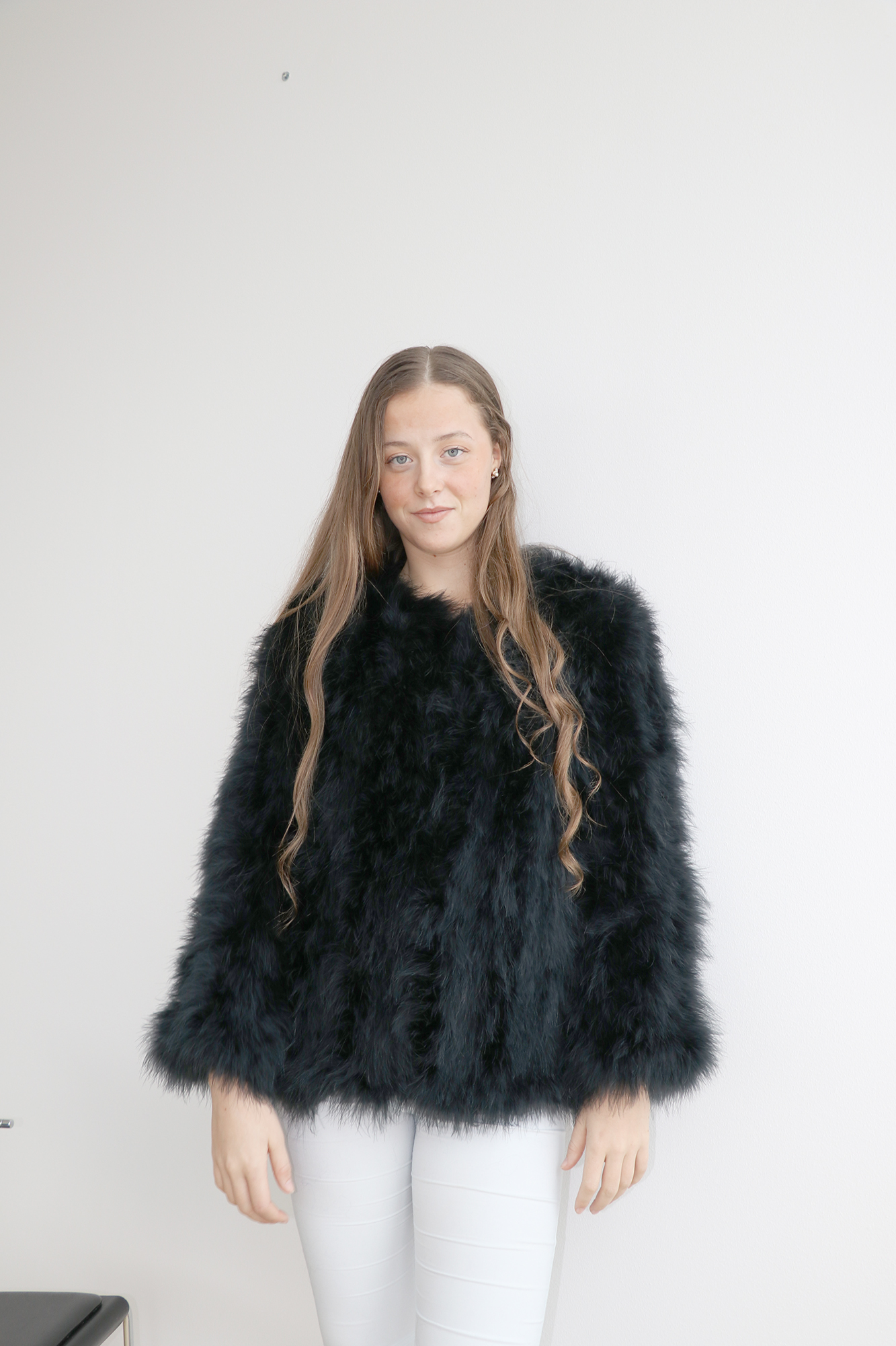 213042e033ad The Classic Feather Collection / Fluffy Feather Fever Jacket ...