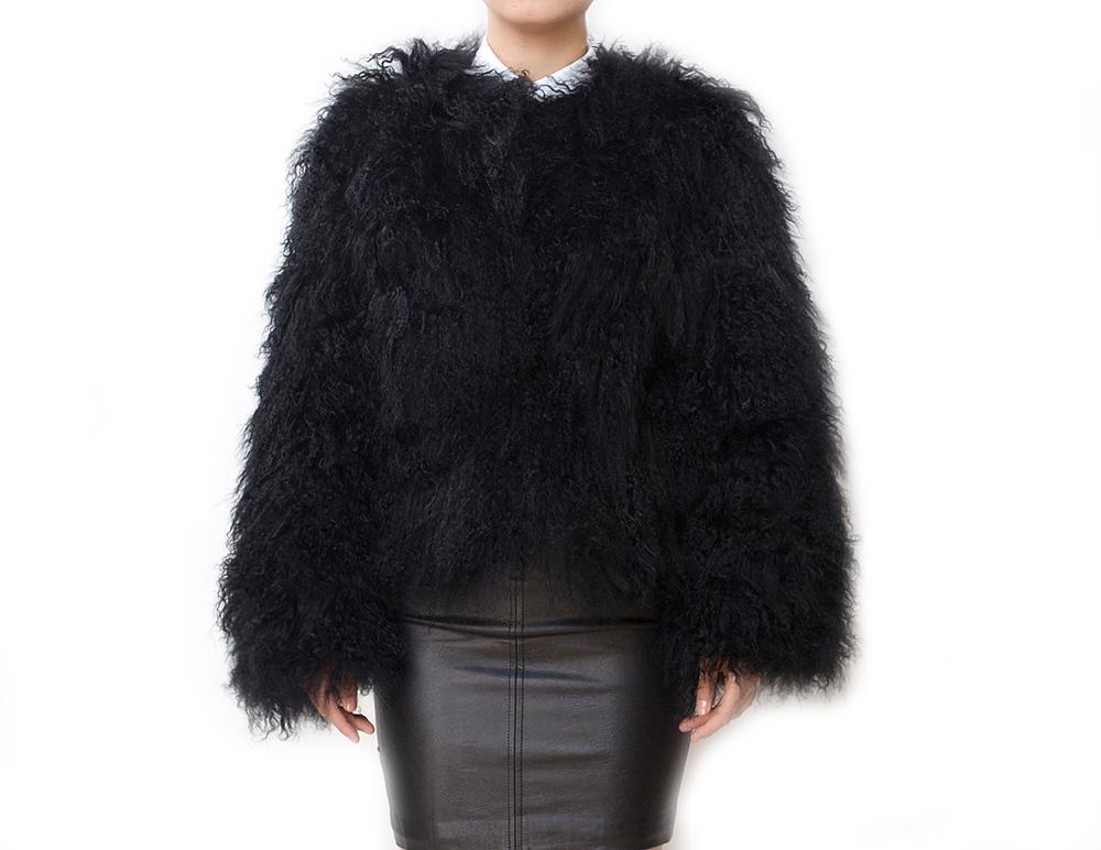 Black Fluffy Jacket | Outdoor Jacket