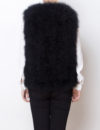Fluffy Fur Fever Vest Classic Black Back