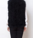 Fluffy Fur Fever Vest Classic Black Back