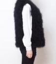 Fluffy Fur Fever Vest Classic Black Side