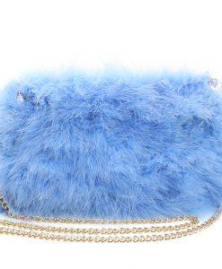 Fluffy Fur Fever Bag Cerulean Blue