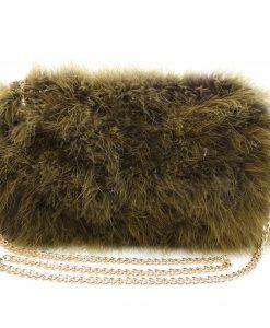 Fluffy Fur Fever Bag Moss Green